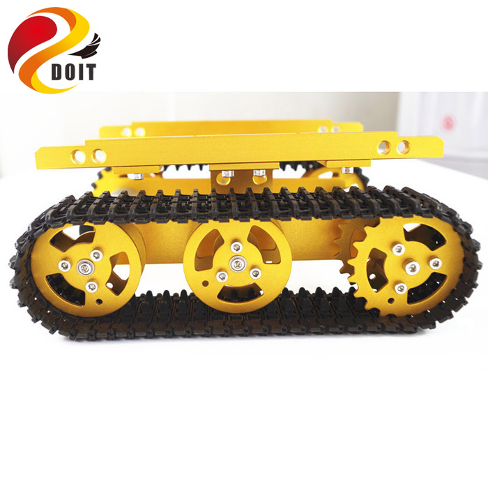 DOIT T100 Robot Tank Car Chassis Crawler Tracked Model Caterpillar Chain Vehicle Mobile Platform Tractor DIY RC Toy official doit tank car chassis crawler intelligent diy robot electronic toy development kit tractor toy