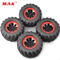 4Pcs/Set 160mm 1:8 Bigfoot Monster Truck Tires&Wheel 17mm Hex 4 TRAXXAS Summit RC Car Accessories