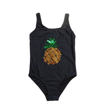 2019 Girls Swimwear One Piece Children Swimsuits Pineapple Girls Swimming Suits 2019 Summer Bathing Suits Beachwear G1-K517(China)