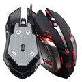 2017 brand new e de alta qualidade Profissional Rato 3500 DPI 6 Botão Óptico Macros Personalizadas Aço USB Wired Gaming Mouse camundongos