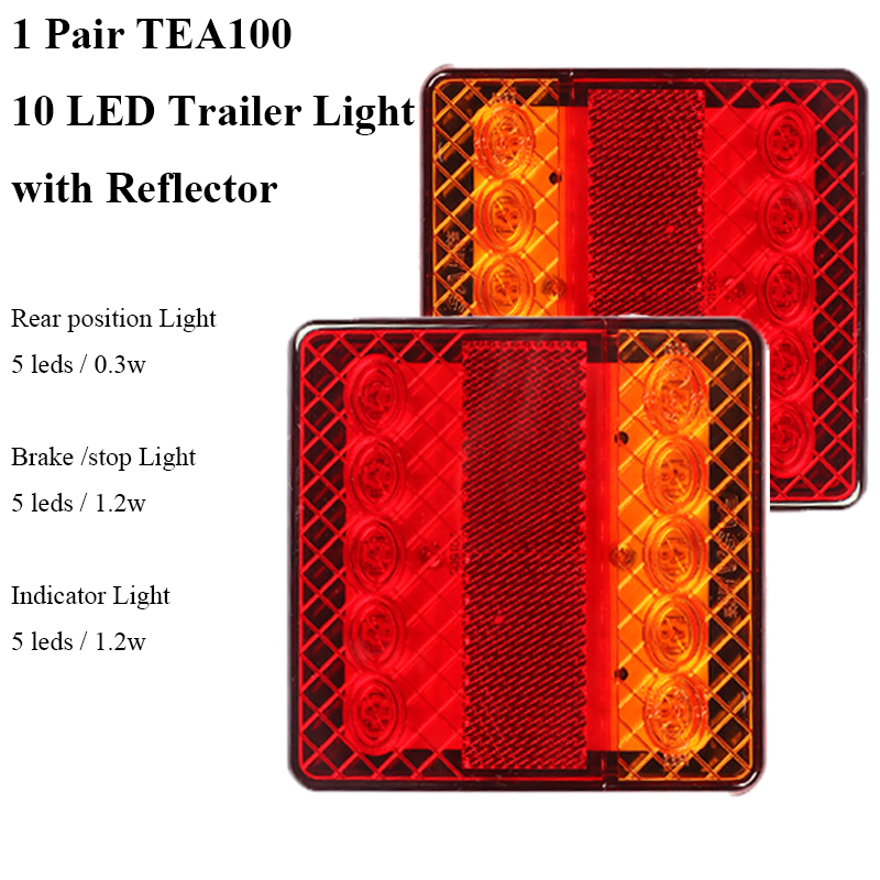 Image 2 - 1 Pair AOHEWEI 12v 10 leds trailer light  brake stop position led light  indicator turn light waterproof Trailer Lamp tail light-in Truck Light System from Automobiles & Motorcycles