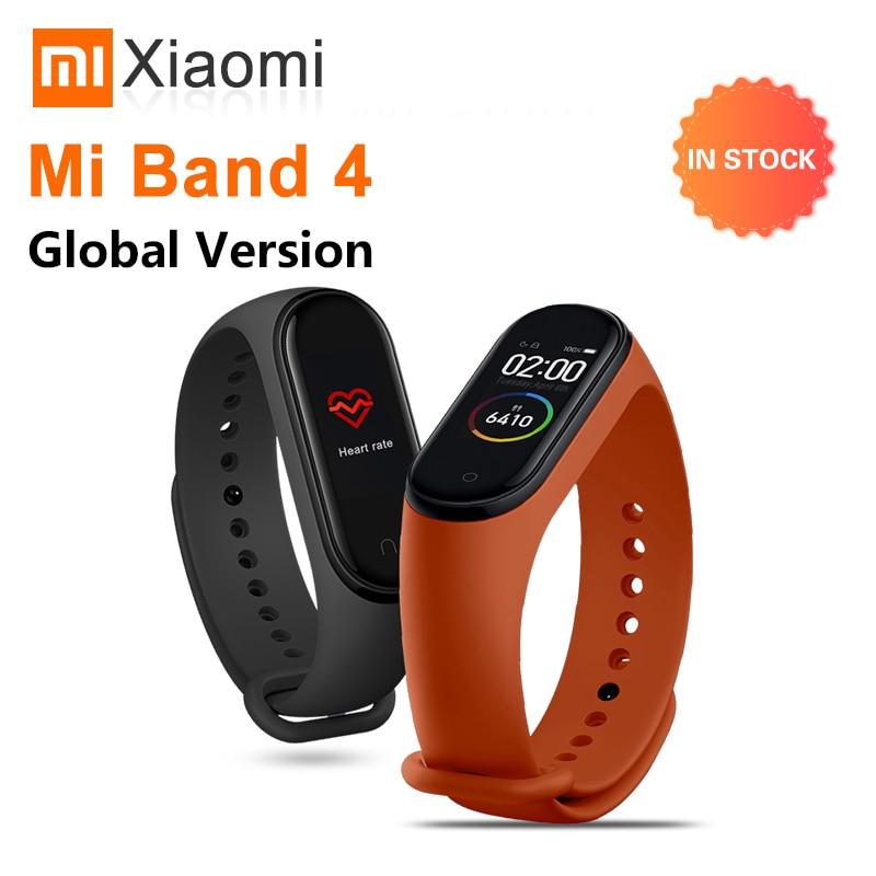 Оригинальный Xiaomi Mi Band 4 глобальная Версия смарт часы Спорт фитнес трекер для измерения сердечного ритма Bluetooth Женский Мужской смарт браслет