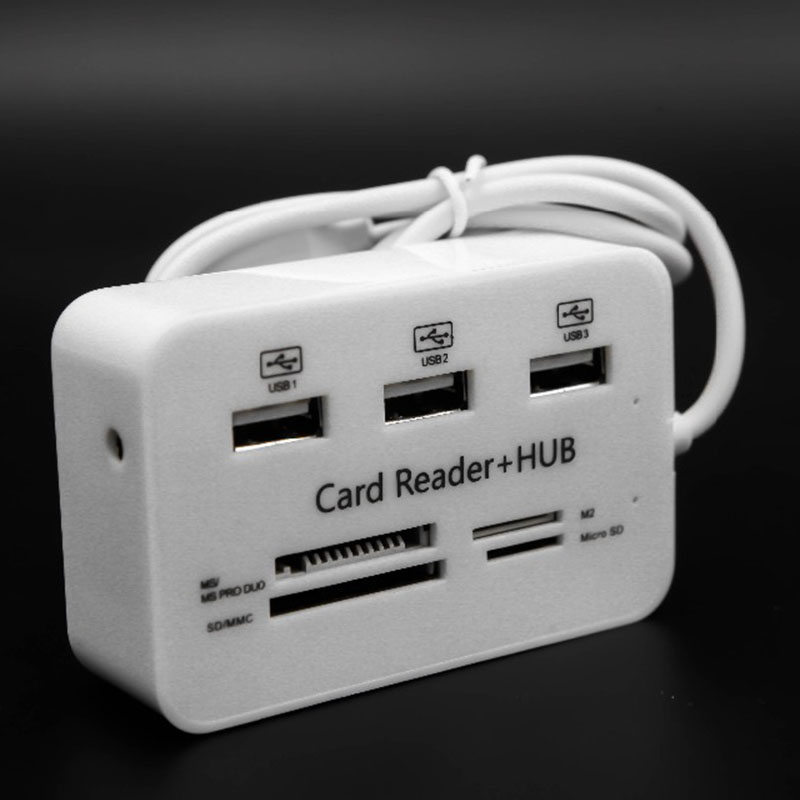 Best Price Micro USB Hub Combo 2.0 3 Ports Card Reader High Speed Multi USB Splitter Hub All In One For PC Computer Accessories
