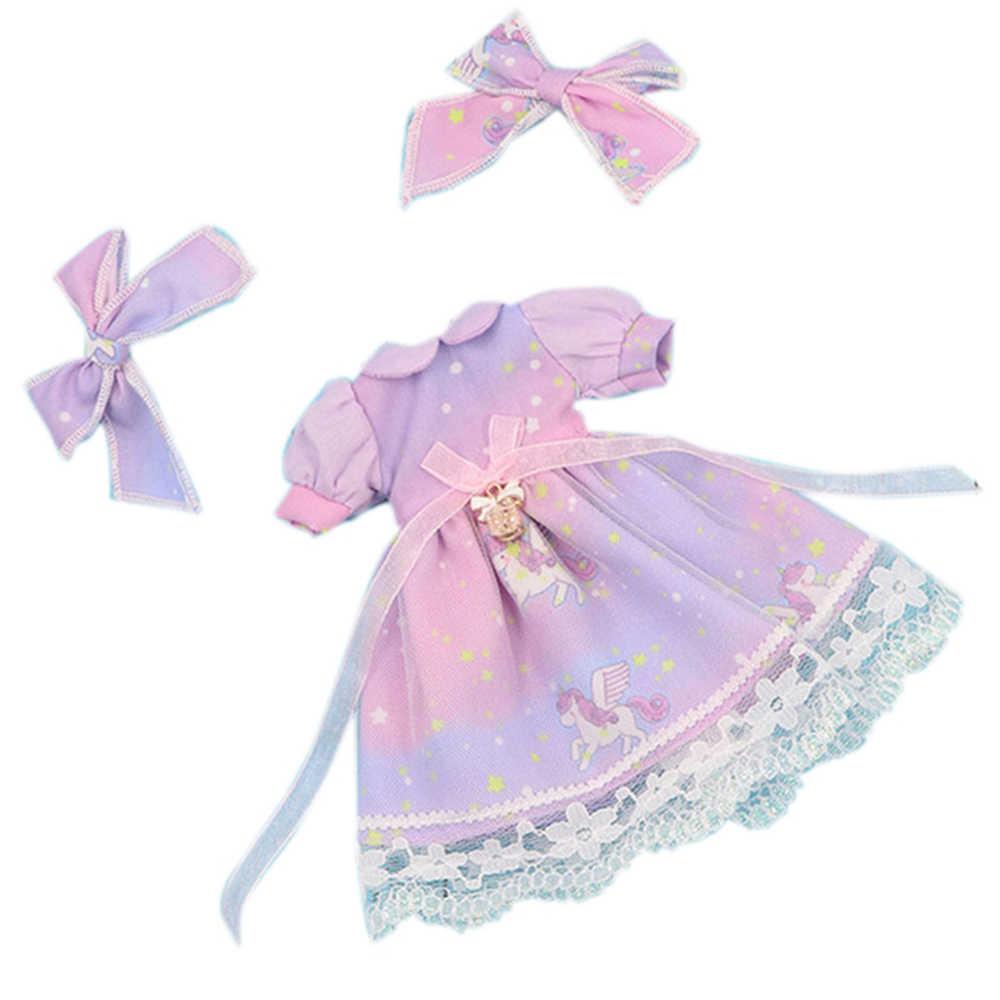 Blyth Кукла Одежда мечта Звезда фиолетовое платье с бантом 1/6 кукла нормальное соединение azone licca куклы Icy