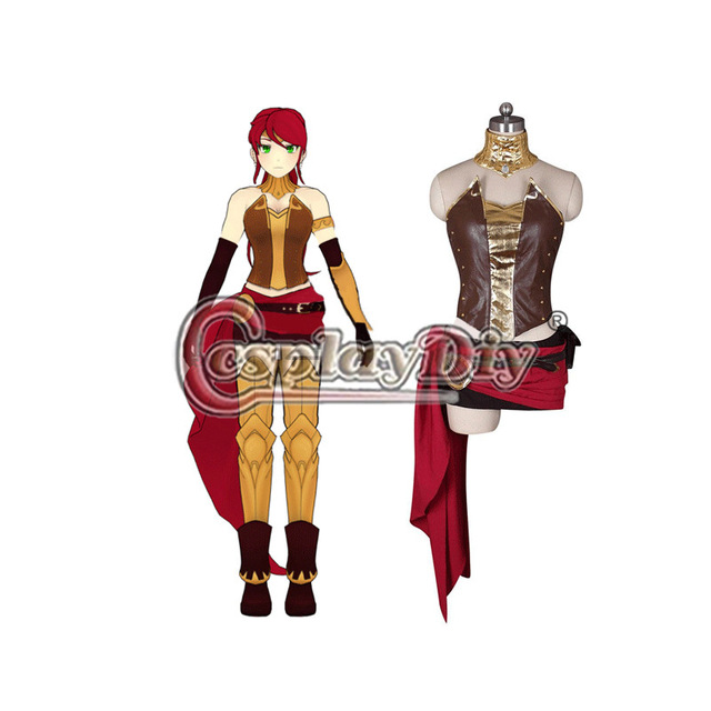 Cosplaydiy JNPR Pyrrha Nikos Beacon Academy Team RWBY Cosplay Costume For Halloween Carnival Party Custom Made