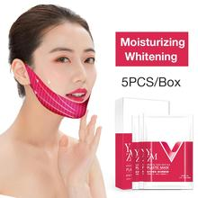 5PCS V Line Mask Neck Face Lifting Chin Up Patch Double Reducer Contour Tightening Firming Moisturizing Shaping Gel Fa