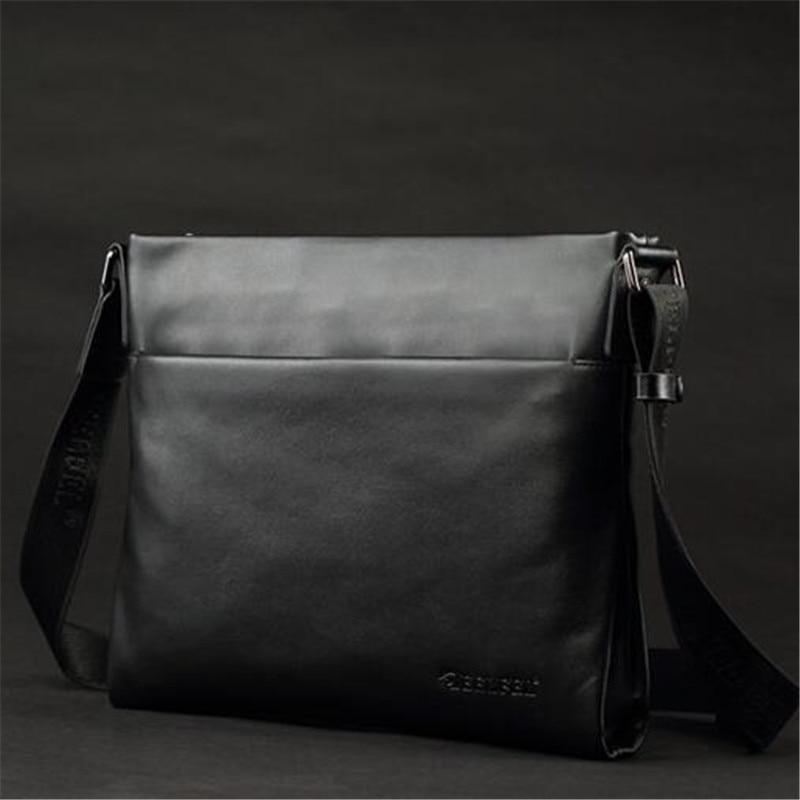de9ecf8d4e DEELFEL Brand 100% Top Genuine Leather Men Bags Casual Slim Shoulder Bag  Business Travel Ipad Crossbody Bag for Male Cowhide Bag on Aliexpress.com