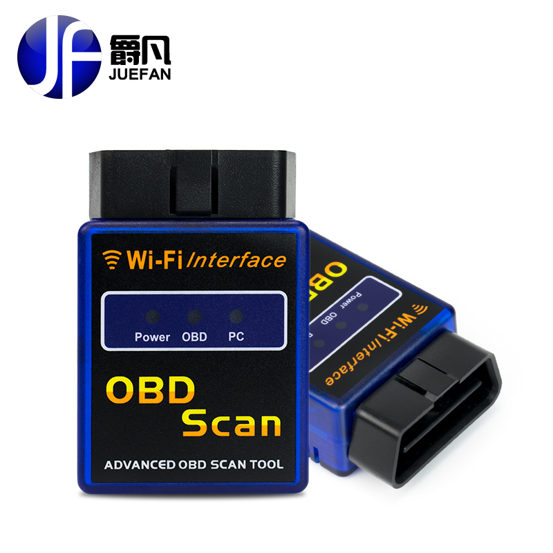 2017 Latest Wifi bluetooth OBD2 Interface Can Bus Scanner ELM 327 OBD II Supports Android IOS