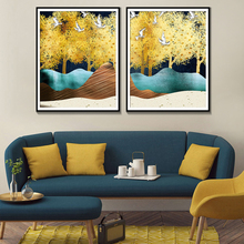 Nature Watercolor Oil Painting Bird Trees Wall Art Home Decoration Posters And Prints Modern Canvas
