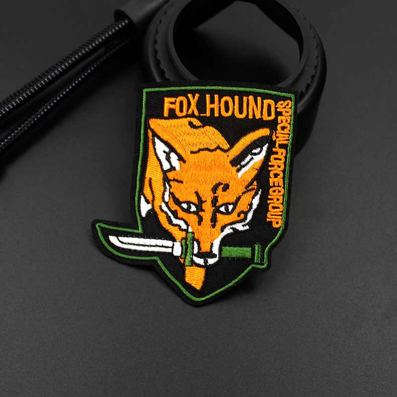 Foxhound Fox Hound Army Patch Special Force ทหารป้ายปัก Applique สำหรับเสื้อกางเกงยีนส์ผ้าตกแต่ง