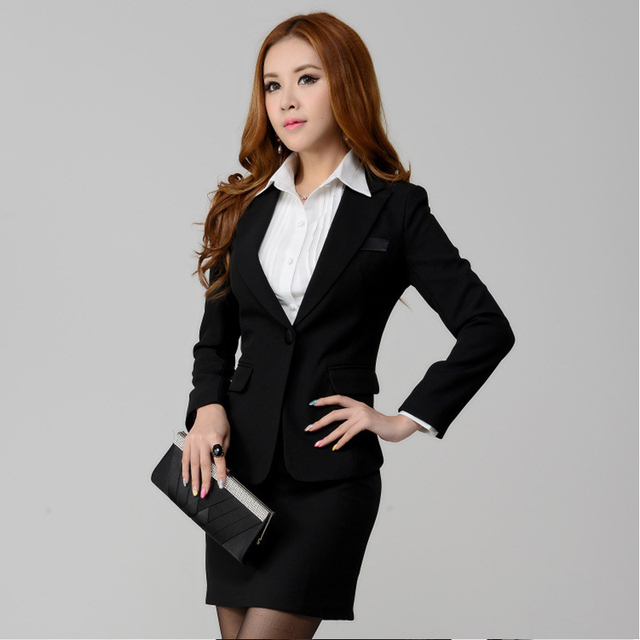 Women S Suit Jacket 2018 Slim Design Lady Suits Pants Black Fashion Office Ol Ms