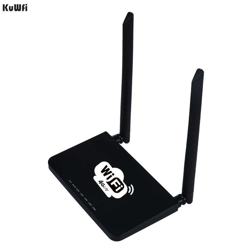 Image 3 - KuWFi Unlocked 300Mbps Wifi Routers 4G LTE CPE Router with LAN Port Support SIM card and Europe/US/Asia/Middle East/Africa-in Wireless Routers from Computer & Office