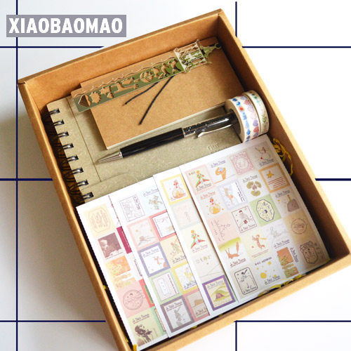 11pcs = set! Pretty Notebook Stationery Gift Box with Notebook, Ballpoint Pen, Washi Tape Cute Korean Stationery Gifts Set
