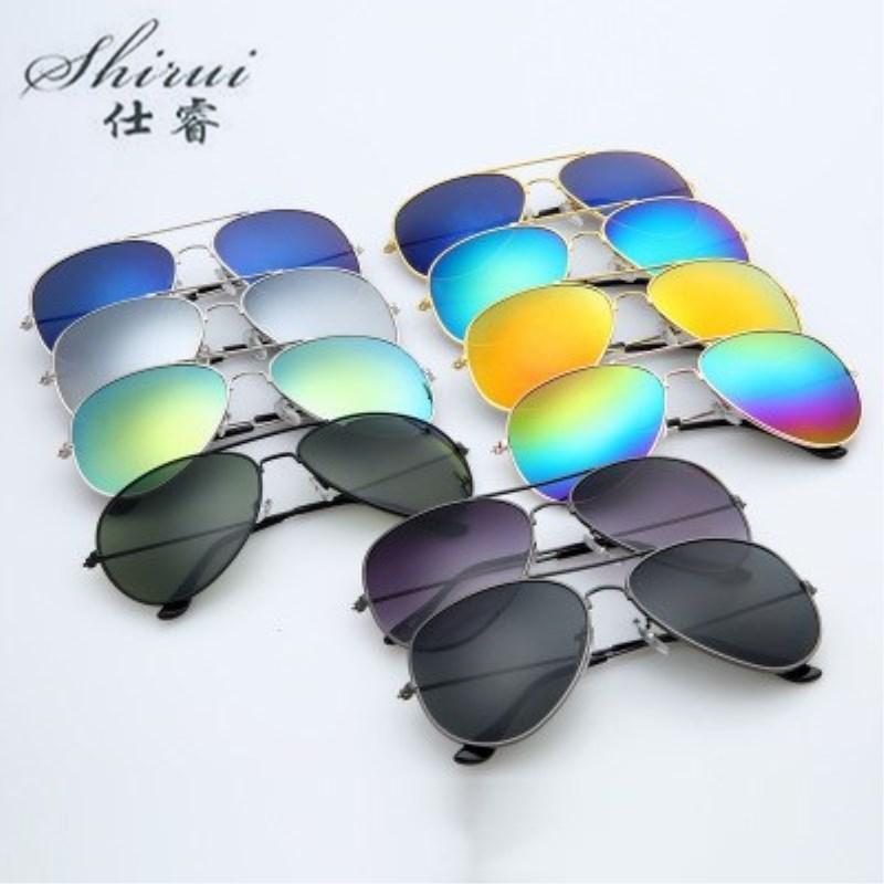 2019 Men Classic Pilot Sunglasses Alloy Frame Sun Glasses For Men Driving UV400 Protection Anti-Reflective Blue Silver Gold