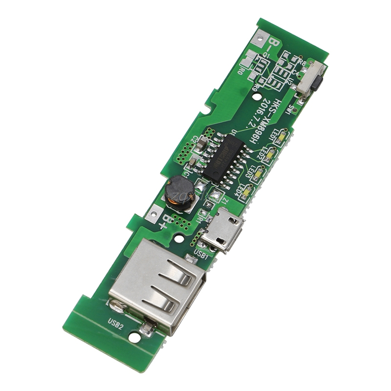 USB 5V 2A Mobile Phone Power Bank Charger PCB Board Module For 18650 Battery Z17 Drop ship dual usb 5v 1a 2 1a mobile power bank 18650 battery charger pcb module board