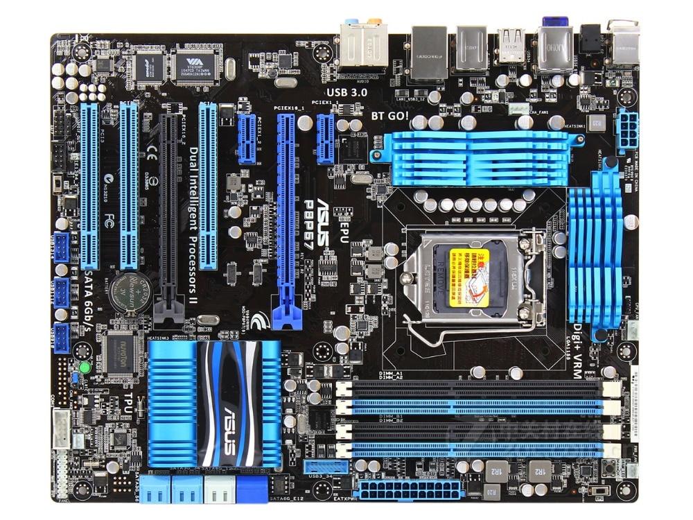 Free Shipping 100% Original Motherboard ASUS P8P67  DDR3 LGA 1155 RAM 32G Motherboards SATA3.0 USB3.0 Mainboard