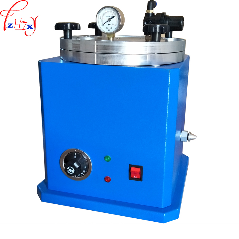 Vertical square bucket type jewelry injection wax machine wax molding machine tooling for wax mould jewelry 220V 500W