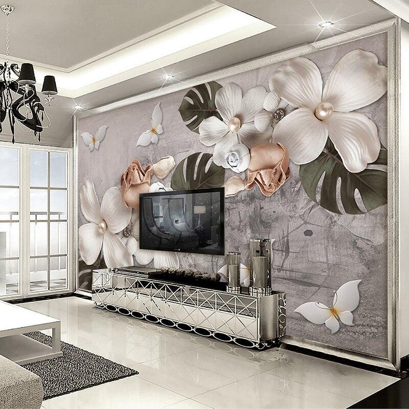 Nach Wandbild Wand Tuch Europäischen Stil 3d Stereoskopischen Relief Blume Schlafzimmer Wohnzimmer Tv Hintergrund Kunst Wand Malerei Moderne Heimwerker Malzubehör & Wandgestaltung