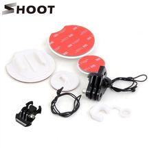 SHOOT Snowboarding Snowboarding Browsing Mount Adapter For GoPro Hero three three+ four Session SJCAM SJ4000 Xiaoyi 4K Digicam Go professional Equipment