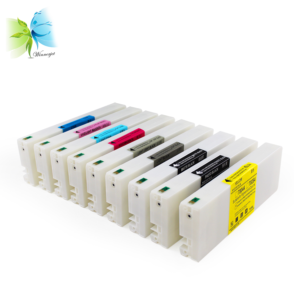WINNERJET 700ml 9 Colors T8041-T8049 Compatible Ink Cartridge For Epson P6000 P8000 Printer