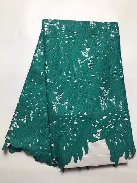BY86 teal green new arrival guipure lace fabric,high quality African cord lace fabric for wedding dress free shipping!