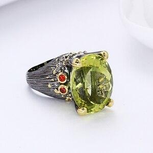 Image 4 - 2020 חדש יפה גדול סגלגל ירוק קריסטל טבעת טרנדי תכשיטי Dropshipping תכשיטי באיכות גבוהה עבור נשים