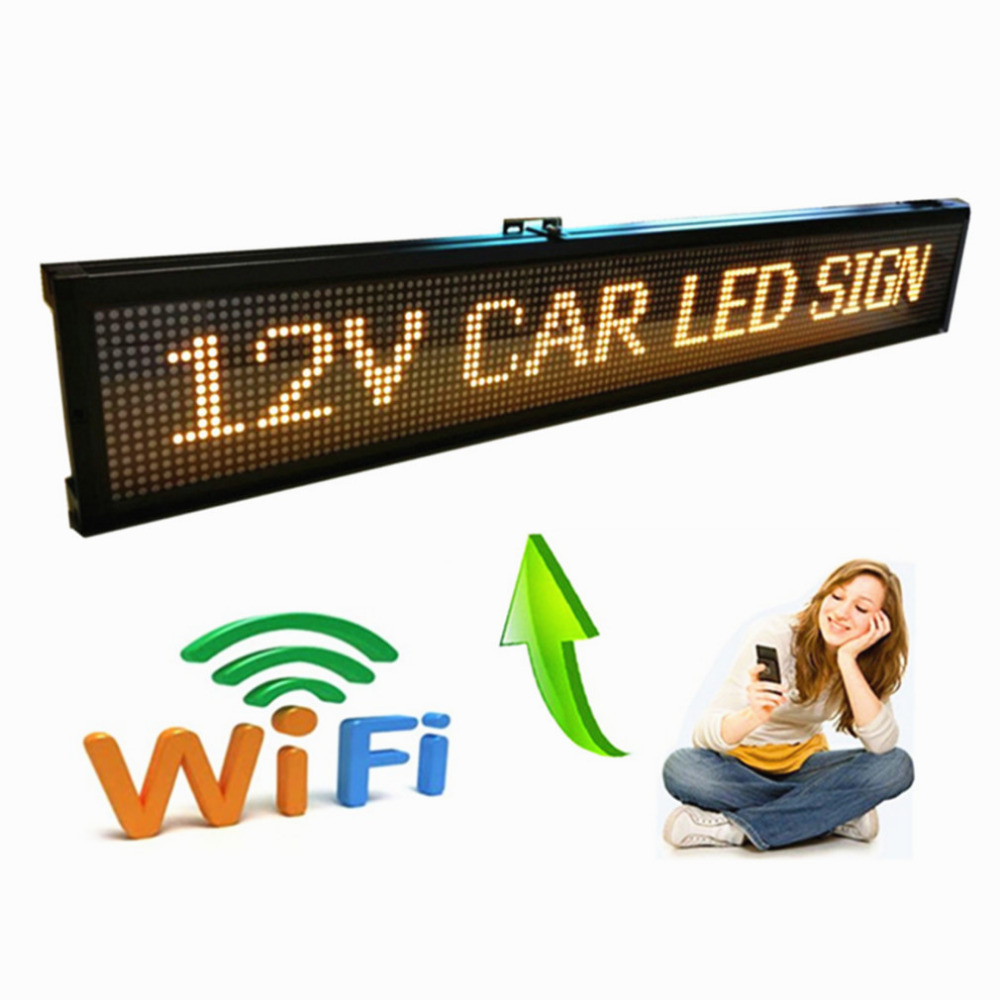 40 Inch 12V 24V Car Popular Wifi Remote Programmable LED Programmable Display Panel / Car Sign/ Vehicle Sign/factory Display