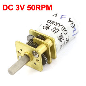 Uxcell(R) Hot Sale 1pcs 12mm DC 3V 50RPM Speed Reducing Electric Gear Box Mini Motor