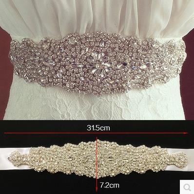 2016 David S1067 Bridal Waistband Heavily Encrusted luxurious Rhinestone Bridal Wedding Sash Wedding accessories Belts