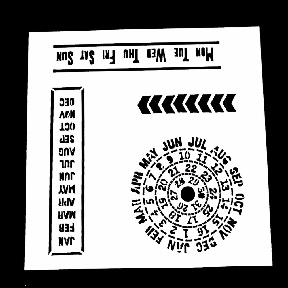 Calendar Stencil Template Reusable Stencils for Painting in Small /& Large Sizes