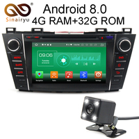 Sinairyu 4G RAM Android 8.0 Car DVD For Mazda 5 Premacy 2007 2008 2017 2010 2013 Octa Core 32G ROM Radio GPS Player Head Unit