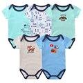 New Born Baby Bodysuits Roupas para Meninos Das Meninas Do Bebê de Manga Curta Bodysuit Verão romper 0-9 M Infantil Conjunto de Roupas corpo Do Bebê Macacões