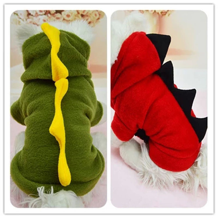 Novelty Pet Dog Hoodie For Small Dogs Clothes Winter Dinosaur Puppy Coat Clothing For Chihuahua Cat Costume XS S M L XL 1291