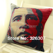 USA president Obama sofa pillow office car back cushion with core 45x45cm
