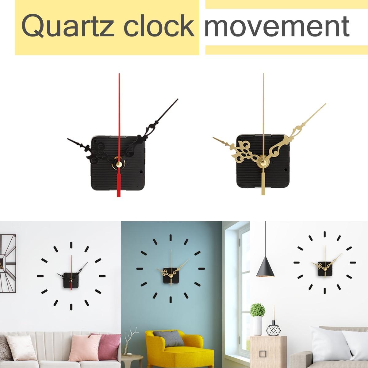 122x92x65mm DIY Silent Quartz Clock Movement Mechanism Hands Wall Repair Tool Parts Kit Set Scanning Cross Stitch Accessories