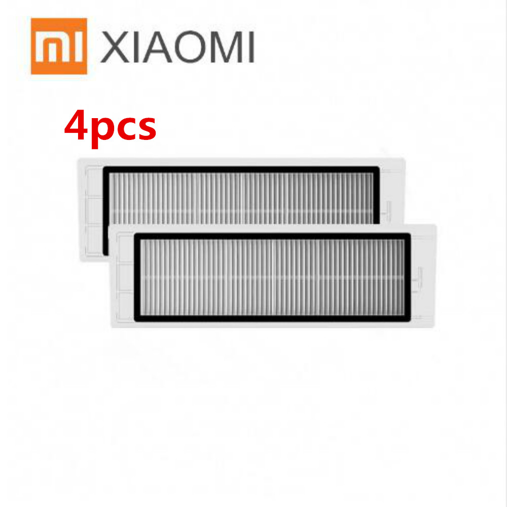 4pcs XIAOMI Mi Robot Vacuum Cleaner Parts Replace the cleaning frame HEPA filter 2pcs robotic vacuum cleaner robotic parts pack hepa filter for xiaomi mi robot filters cleaner accessories
