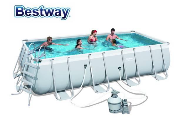 US $711.0 |56466 Bestway 549x274x122cm Rectangular Pool Set 18\'x9\'x48