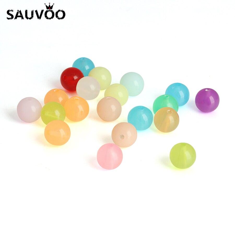Sauvoo 100 шт. Смешанные акриловые круглый шар Свободные Spacer Бусины 8 мм Карамельный цвет для DIY Ожерелья для мужчин браслет ювелирных изделий Выводы