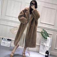 Многоцветные осенние зимние меховые пальто женская верхняя одежда настоящие оторочка из овечьей шерсти пальто Тедди овечья шерсть пальто