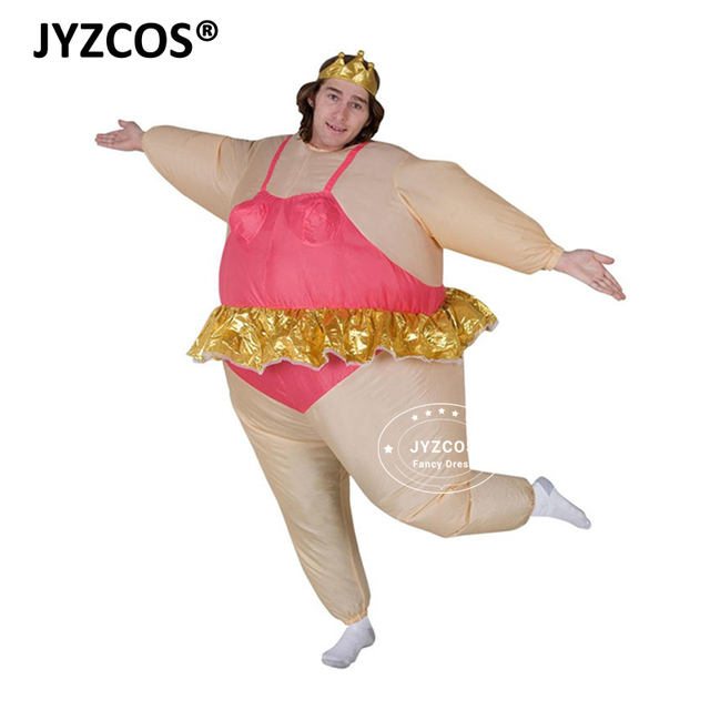 Jyzcos Purim Christmas Party Inflatable Ballerina Costume Airn Fancy Dress Fat Suit Stag Hen Night