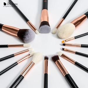 Image 3 - DUcare brushes Black 15PCS Makeup brushes Professional Make up brushes Natural hair Foundation Powder Highlight Brush Set