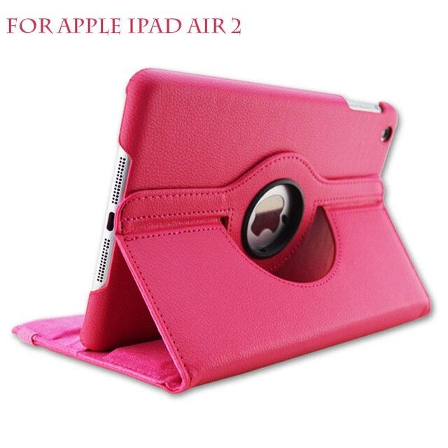 Для iPad Air 2 Leather Case 360 градусов флип кожа задней стороны обложки case Для apple ipad air2 Смарт-Чехол для Ipad 6 Tablet case