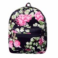 Floral Printing Backpack School Bags For Teenagers Flower Mochila PU Leather Women Backpacks Girls Travel Bag High Quality