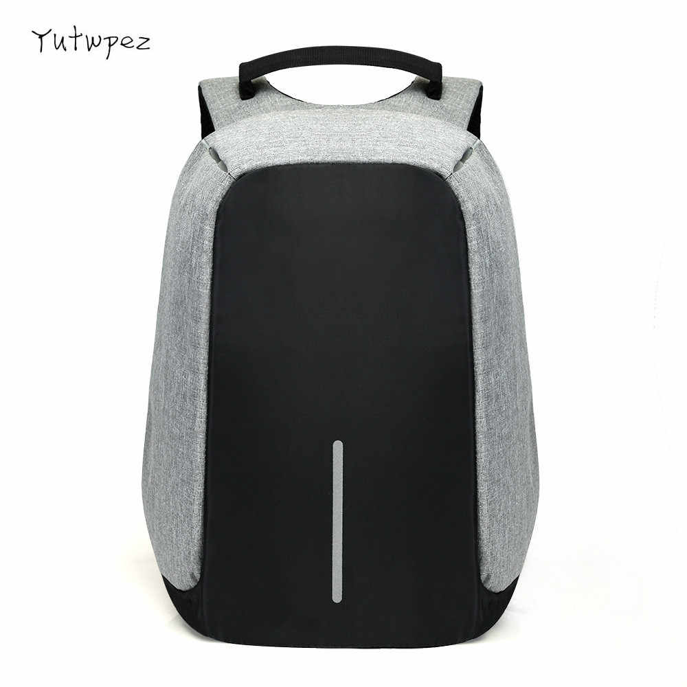 15 inch Laptop Backpack USB Charging Anti Theft Backpack Men Travel Backpack Waterproof School Bag Male Mochila New 2019