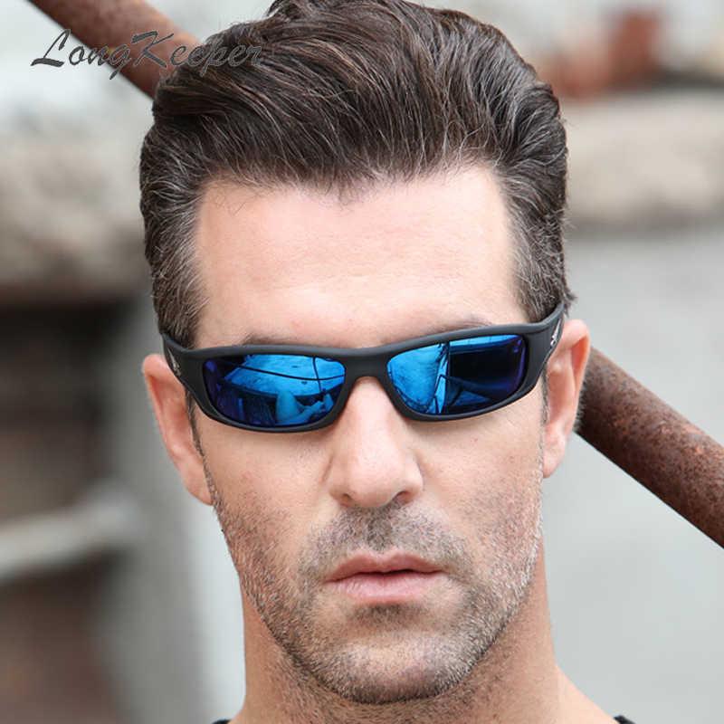 Hot البيع الاستقطاب النظارات الشمسية النساء UV400 الإطار الأسود الرياضة نظارات شمسية الرجال العلامة التجارية مصمم القيادة نظارات Gafas longguard