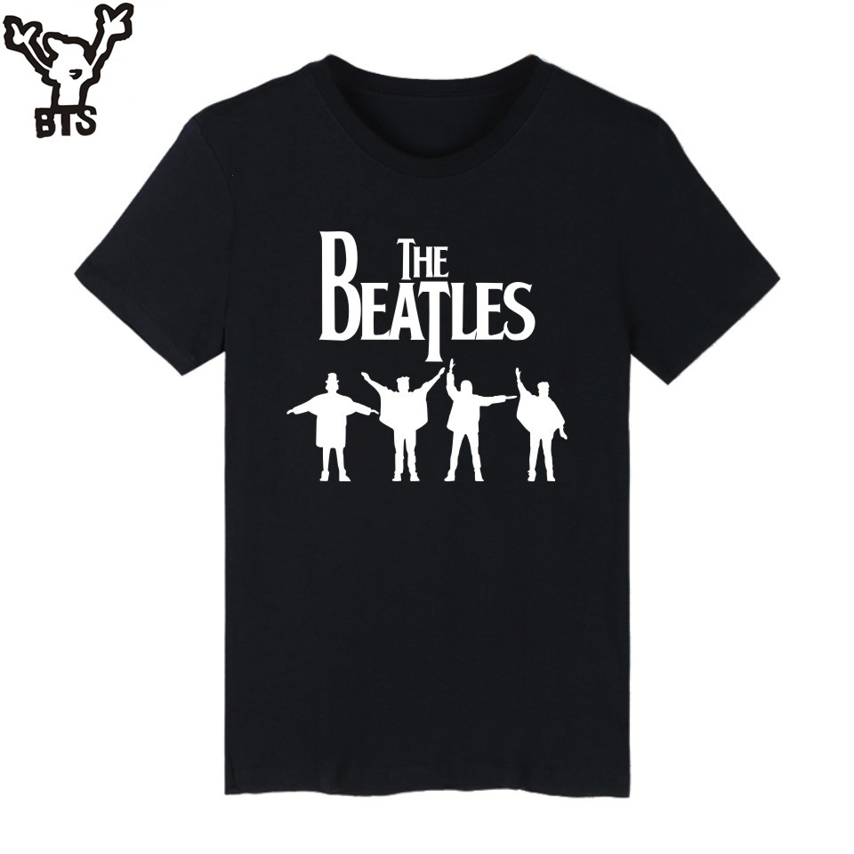 Design t shirt price - Bts Beatles T Shirt Men 4xl Streetwear Fashion Style Tshirt Men Cotton White Simple Design
