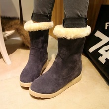 2016 Fashion Autumn Winter Women's Shoes Martin Boots Suede Leather Warm Snow Boots Outdoor Casual Keep Warm Boots