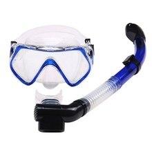 366031ff0 PCFull GogglesGlasses Máscara Tubo de Respiração Subaquática de mergulho de  Silicone Líquido Seco Bocal Mergulho Natação