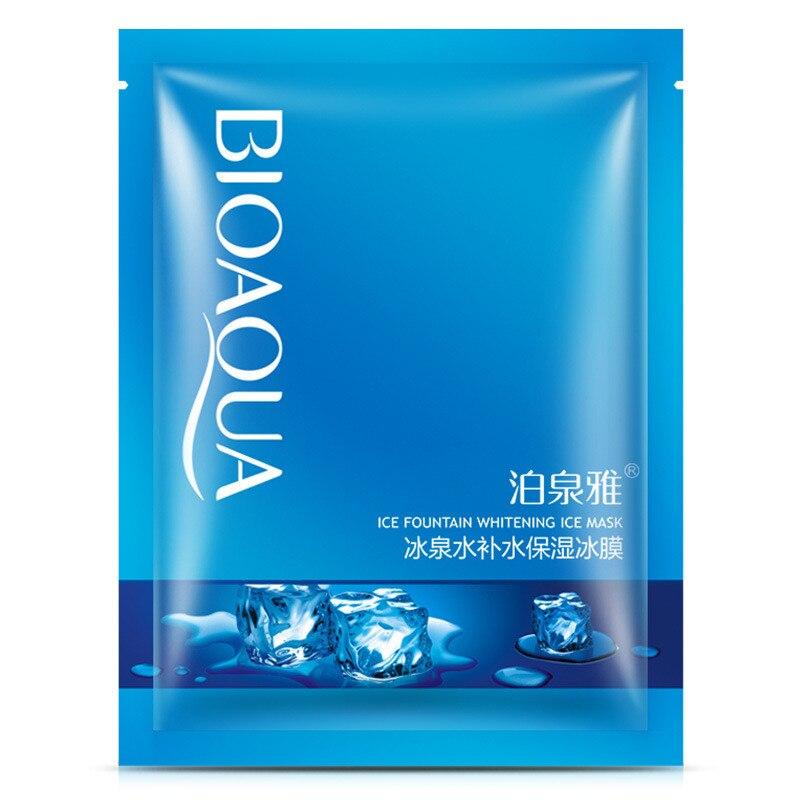 BIOAQUA Ice Fountain Whitening Facial Mask Cool Hydrating Moisturizing Oil Control Brighten Face Mask Skin Care