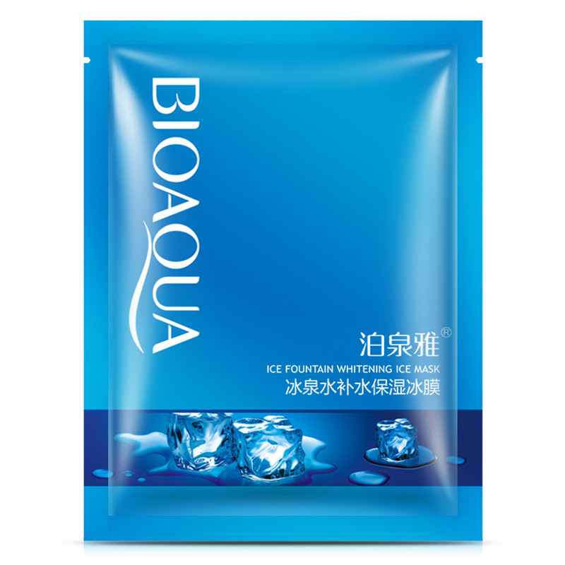 BIOAQUA Ice Fountain Whitening Facial Mask Cool Hydrating Moisturizing Oil Control Brighten Face Mask Skin Care image